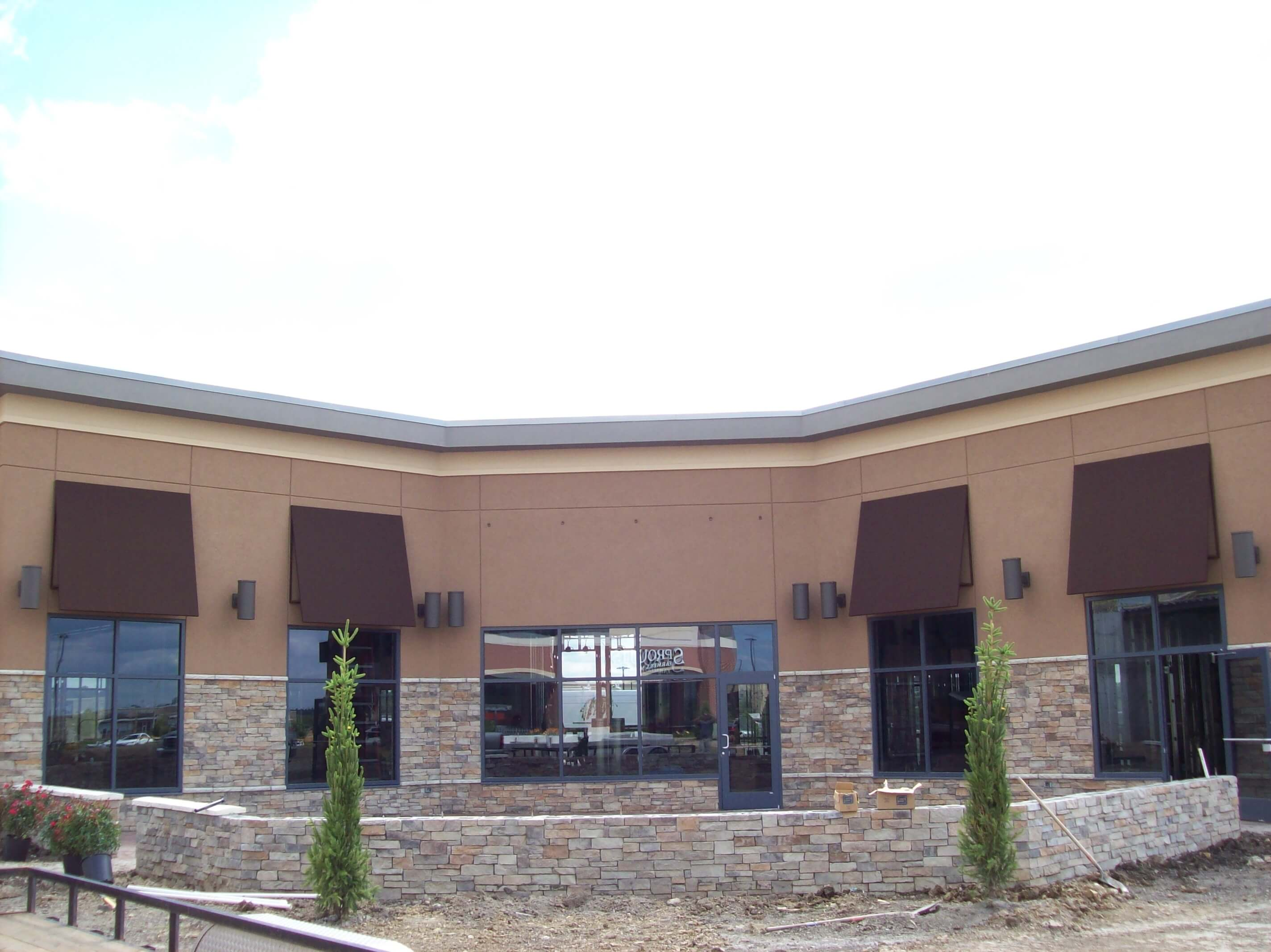 Commercial Building Awnings and Canopies - Western Awning